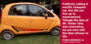 Tata Nano Devised for Middle Classes Fail
