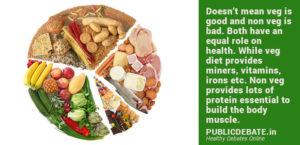vegetarian vs non vegetarian diet