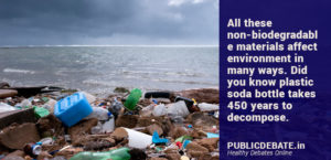 Average life span of waste materials to decompose