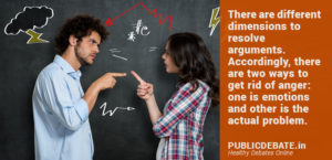 Resolve arguments and anger issues in a relationship
