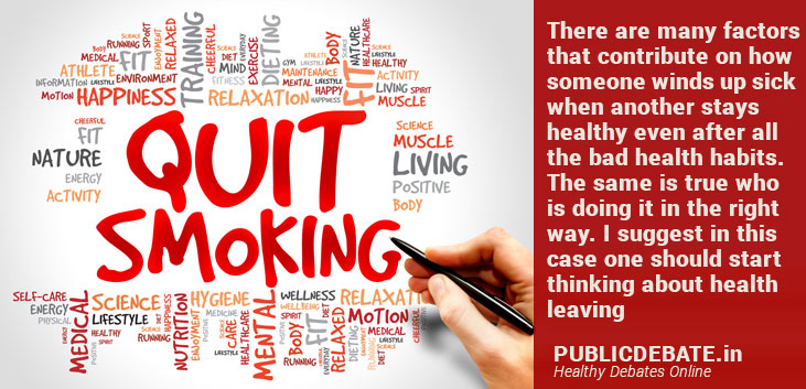 How to balance with smoking and consider healthy lifestyle?