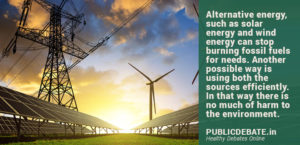 Alternative Energy should replace Fossil Fuels