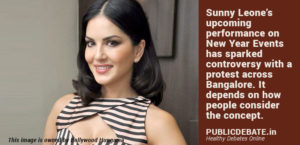 Should we protest Sunny Leone's New Year's events?
